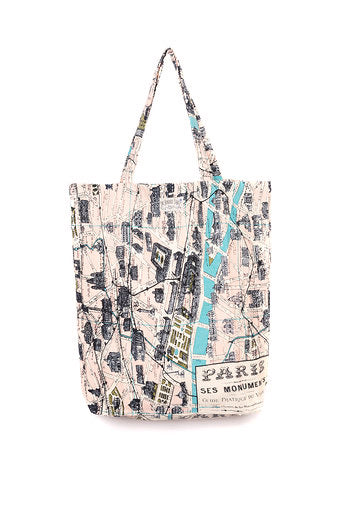 One Hundred Stars Paris Map Tote Bag