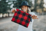 Mad For Plaid Red & Black Clutch
