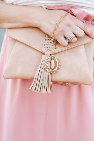 California Dreaming Clutch In Taupe
