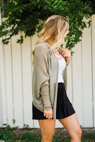 All For You Olive Cardigan