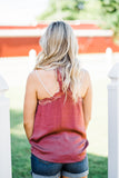 Stay With Me Brick Lace Tank