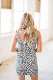 Wild Nights White Leopard Body Con Dress