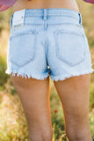 Distressed Button Fly Kan Can Frayed Shorts