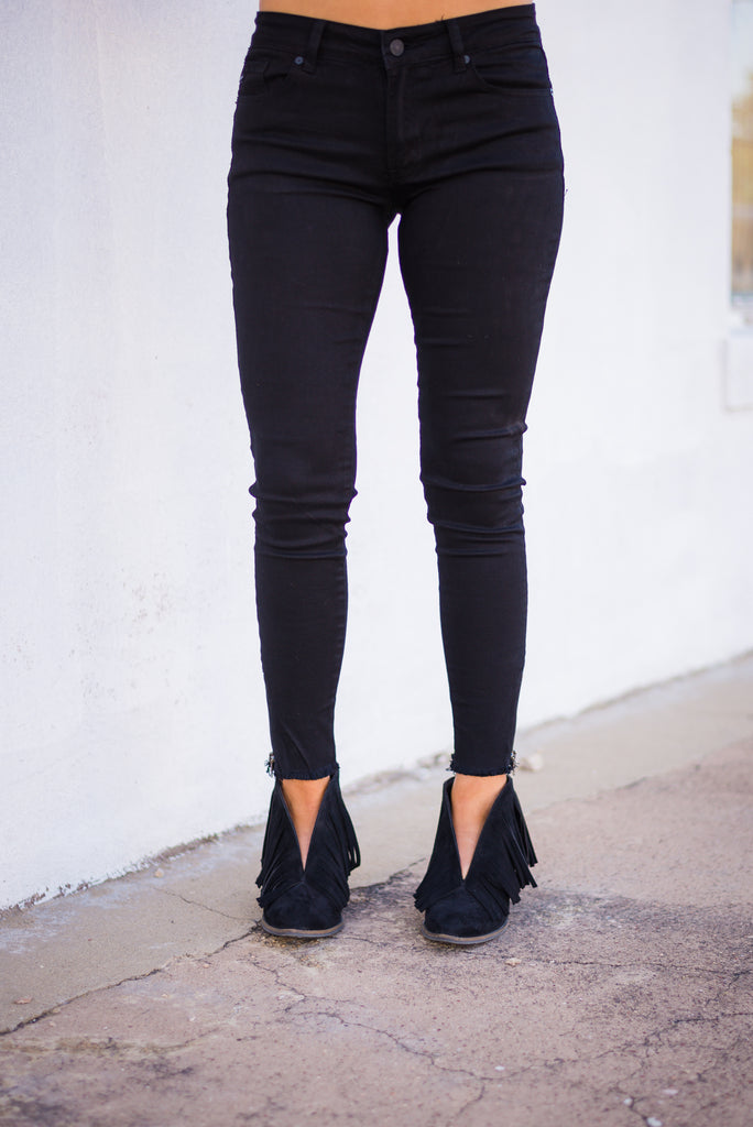 City Lights Ankle Zipper Jeans