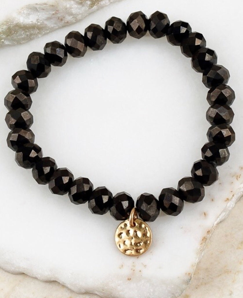 Get Stacked Black Bracelet