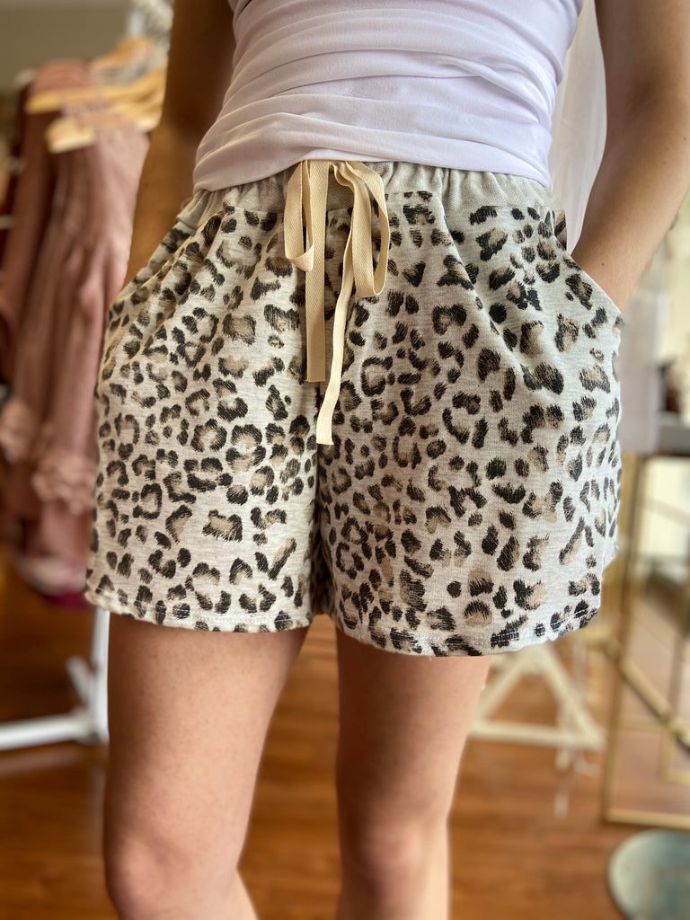 Wild With You Leopard Lounge Shorts