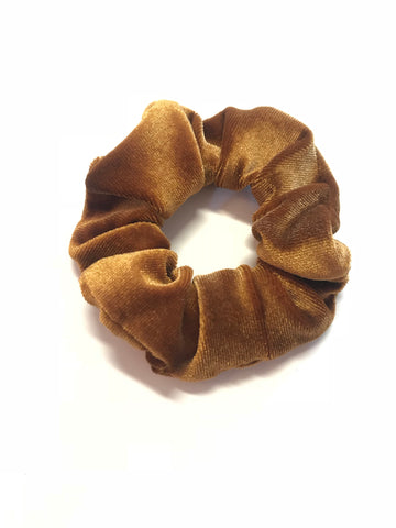 Crushing On You Mustard Velvet Scrunchie