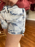 Need A Change Acid Wash Denim Shorts