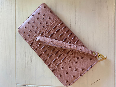 Chic And Shabby Pink Wristlet Wallet