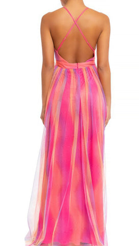 Lovely In Tulle Maxi Dress