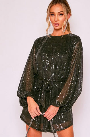 Glitzy Glam Black Dress