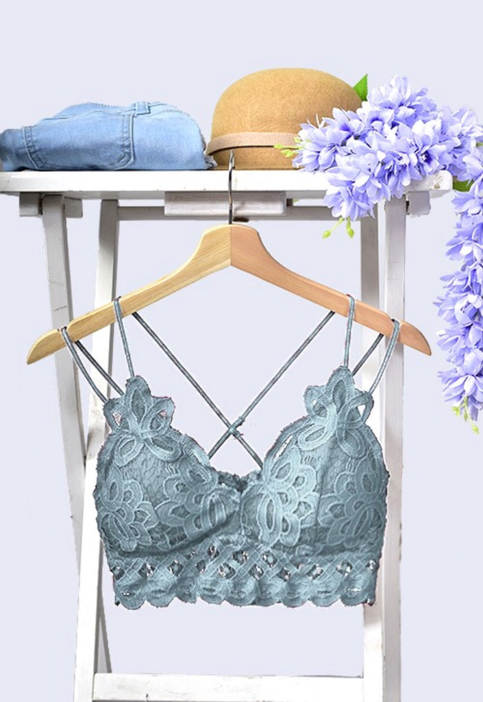 Summer Lovin' Bralette-Teal Grey