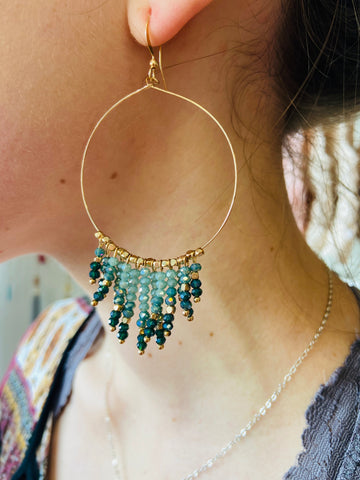 First Impressions Shimmering Teal Earrings