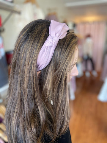 Knotted Wide Mauve Headband