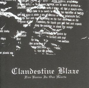 Clandestine Blaze - Fire Burns in our Hearts CD