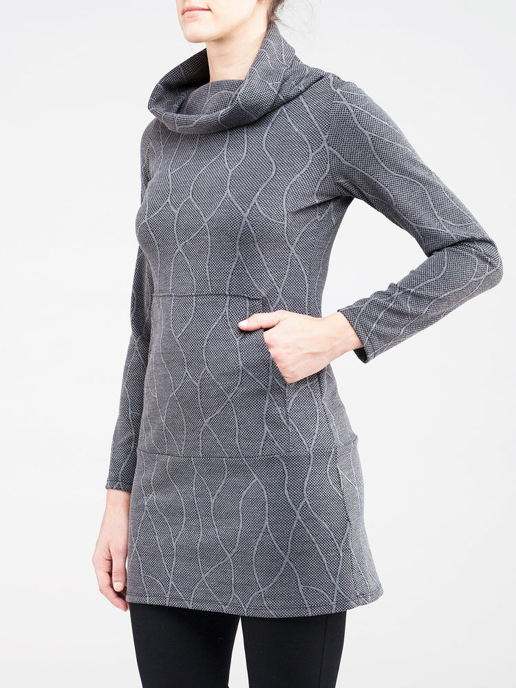 Kollontai Long Grey Tunic  - size L only