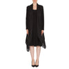 JOSEPH RIBKOFF BLACK DRESS WITH SHEER VEST