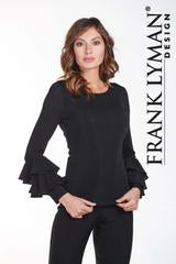 Frank Lyman Black Glitter Top - one left size 8