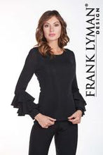 Load image into Gallery viewer, Frank Lyman Black Glitter Top - one left size 8