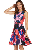 Frank Lyman Navy Red Dress - FINAL SALE