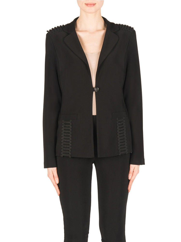 Joseph Ribkoff Black Lattice Jacket