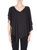 Joseph Ribkoff Layered Top, Black