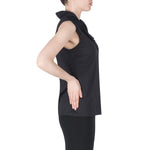 Joseph Ribkoff Black Top Ruffle Neck