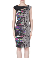 Joseph Ribkoff Black Multi Colour Dress