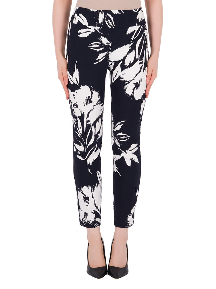 Joseph Ribkoff Midnight & White Pant - SIZE 6 ONLY