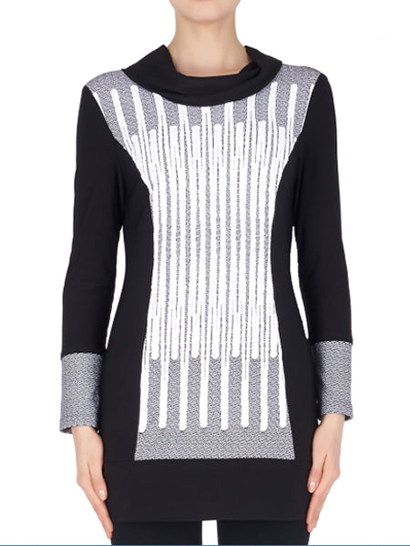 Joseph Ribkoff Black/White Tunic