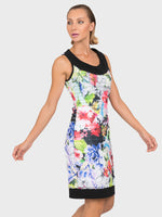 Joseph Ribkoff Floral Ruffle Dress