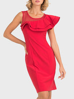 Joseph Ribkoff Red Valance Dress