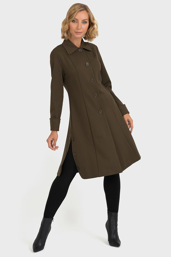 Joseph Ribkoff Safari Button Coat