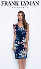 Load image into Gallery viewer, Frank Lyman Navy Floral Dress
