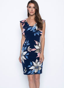 Frank Lyman Navy Floral Dress