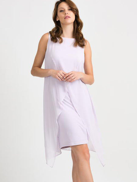 Joseph Ribkoff Lilac Chiffon Layered Dress