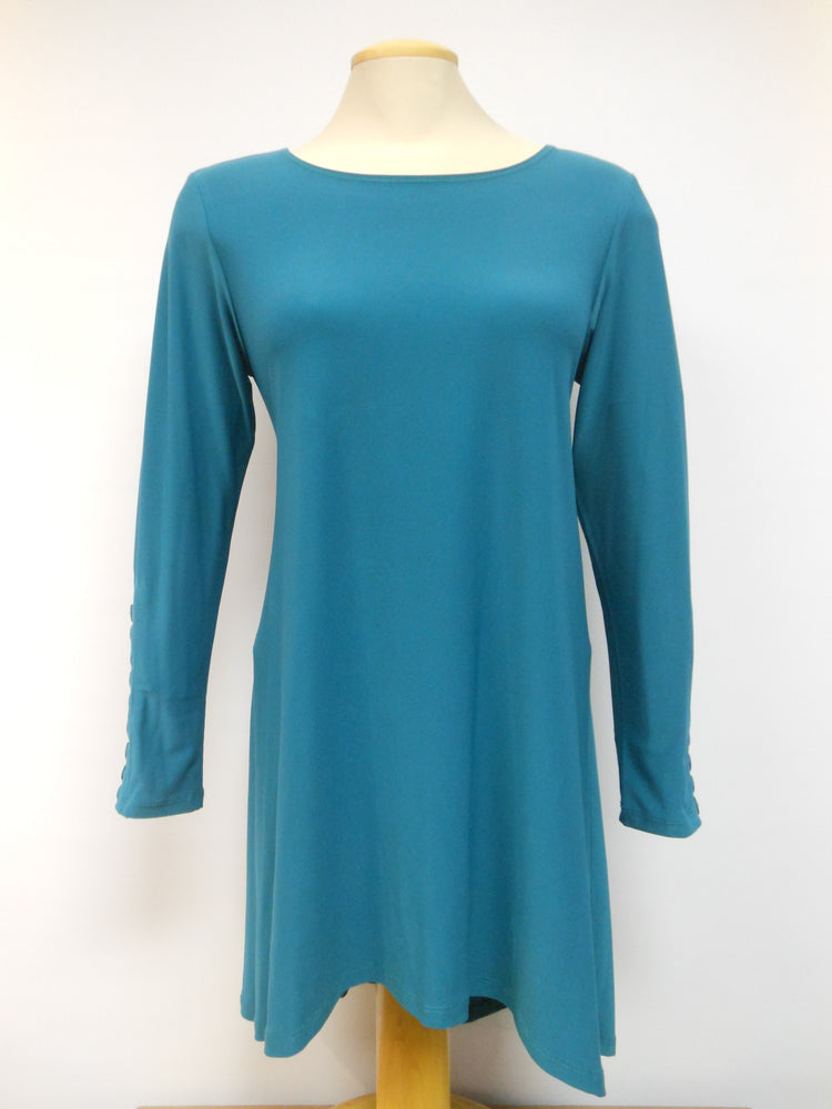 Pretty Woman Hi-Low Tunic, Teal - one left, size 3X