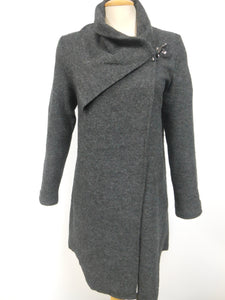 Wool Jacket with Shoulder Clip