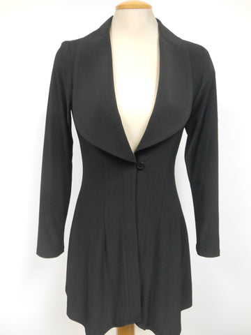 CLASSIC BLACK COVER-UP WITH LAPEL