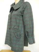 Pretty Woman Plaid Coat, Green - one left, size S