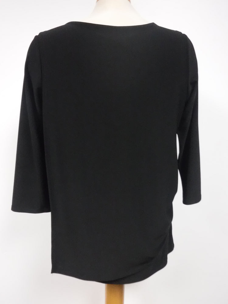 Pretty Woman Black Top with Side Rushing