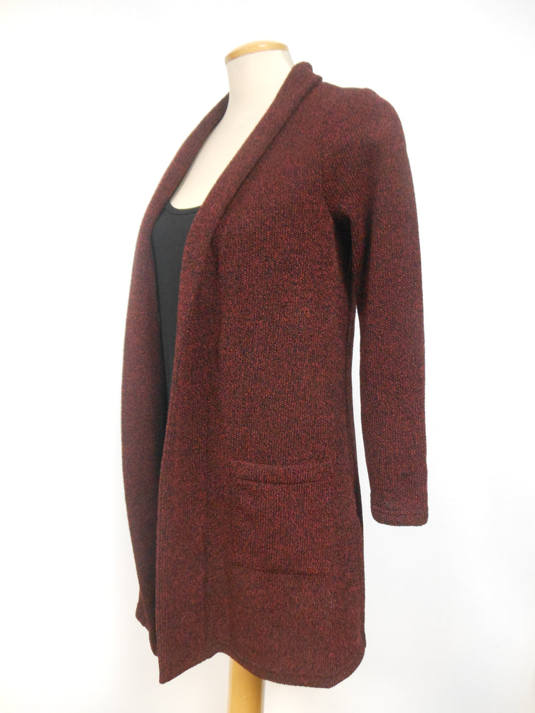 Pretty Woman Burgundy Long Cardigan