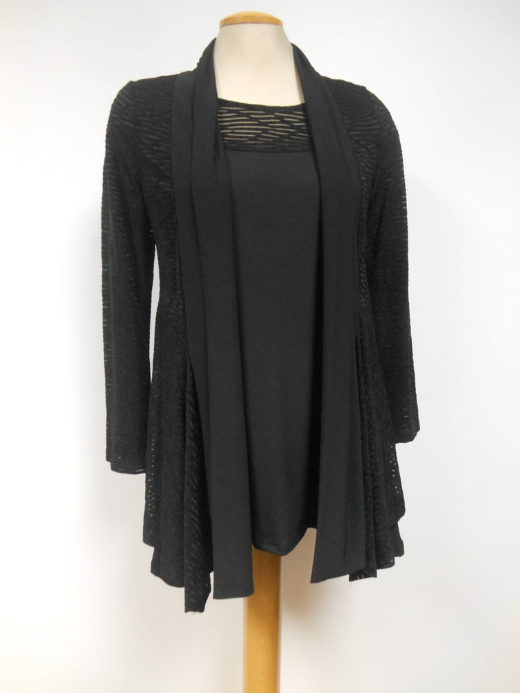 Pretty Woman Black Burnout Top