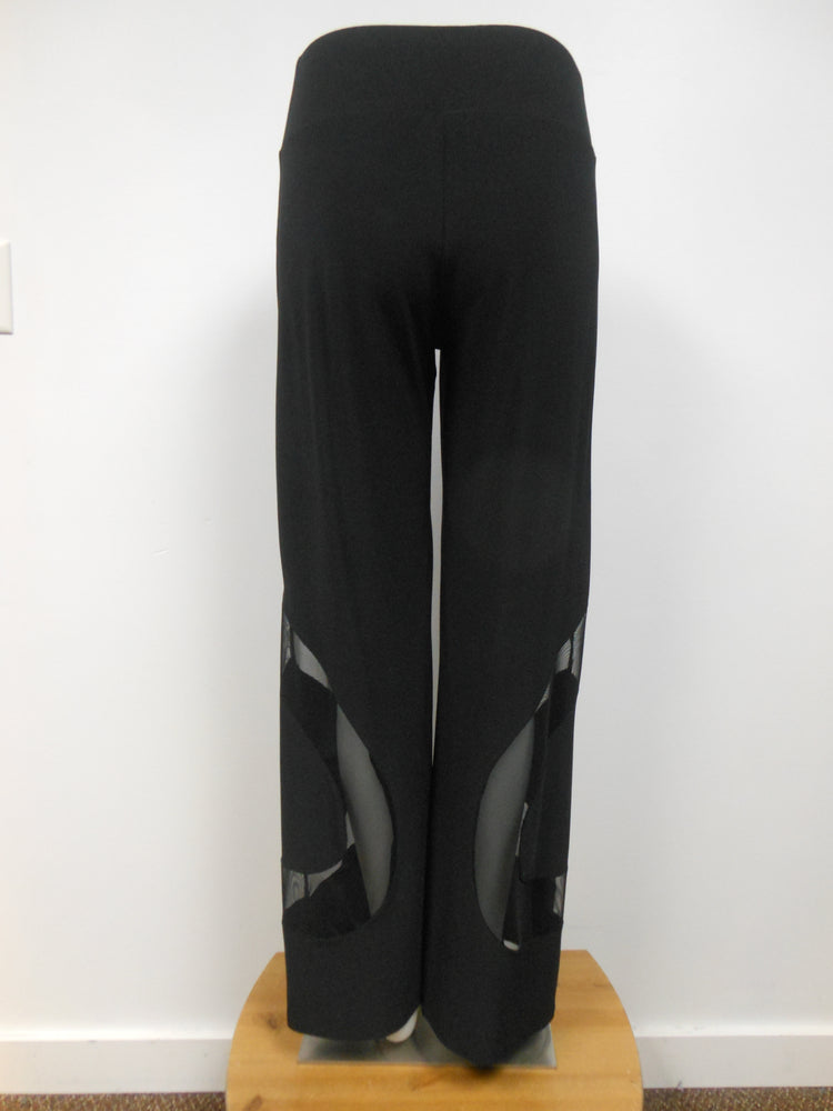 Black Palazzo Pant with Mesh, size XL only