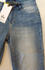 Georgia Ankle Jean with faux pearl accents by Lois