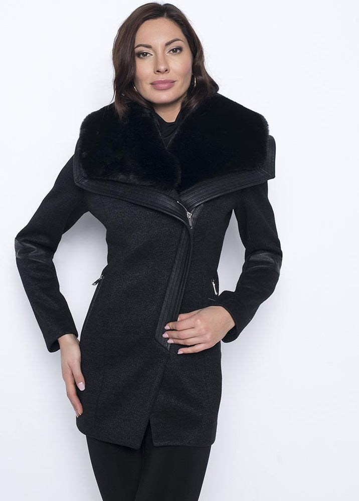 Frank Lyman Coat with Removable Collar