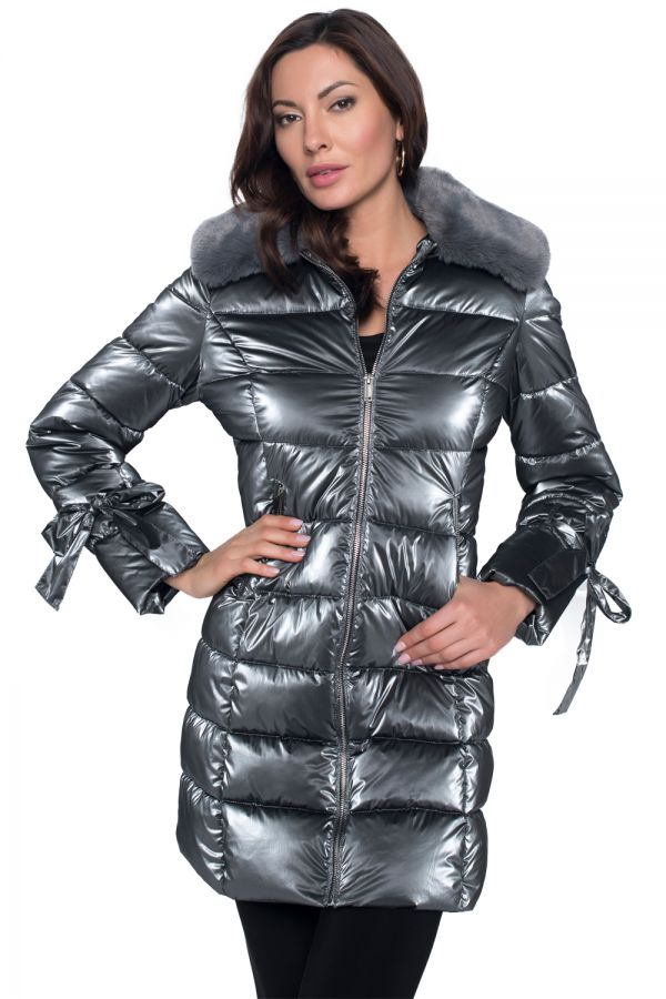 Frank Lyman Puffer Coat with Removable Collar