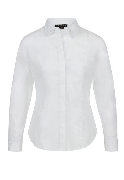Tribal White Button-up Shirt