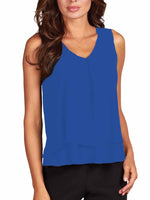 Frank Lyman Layered Top, Royal Blue