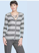 Button-up Cardigan, Charcoal